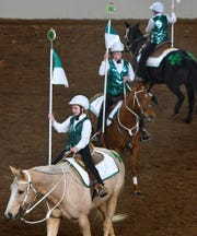 4-H riders perform at the 104th Pennsylvania Farm Show Saturday, Jan. 4, 2020. Saturday was the first day of the week-long farm show. Bill Kalina photo
