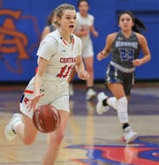 San Angelo Central High School's Delaney Hester helped lead the Lady Cats to a win against Weatherford at Babe Didrikson Gym on Friday, Jan. 3, 2020.