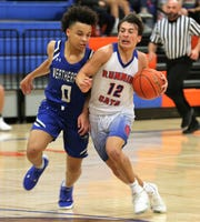 San Angelo Central High School's Tristan Lopez (right) scored a game-high 31 points in a District 3-6A win against Weatherford at Babe Didrikson Gym on Friday, Jan. 3, 2020.