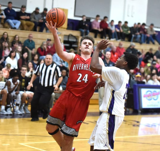 Riverheads' Grant Painter goes up for the shot Friday against Waynesboro.