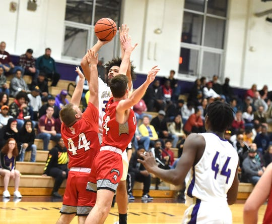 Waynesboro's Damien Fisher finished with 24 points in his team's win over Riverheads Friday night.