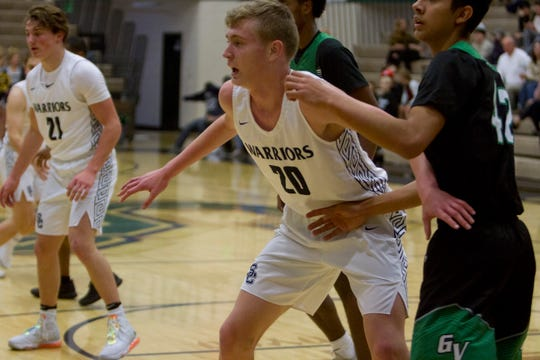 Snow Canyon center Lyman Simmons during their game against Green Valley High School Friday, Jan. 3, 2020.