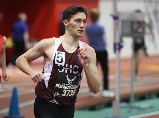 Scarsdale's David Matusz runs the mile invitational during the US Air Force Hispanic Games at The Armory New Balance Track & Field Center in New York on Saturday, January 4, 2020.