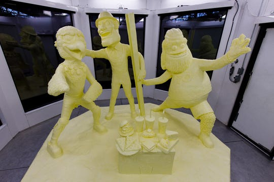 The 2020 Pennsylvania Farm Show Butter Sculpture was unveiled today in Harrisburg, Pa.