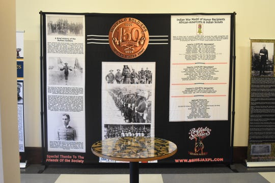 """""""A Legacy of Honor and Valor,"""" is currently on view at the Alexandria Museum of Art through Feb. 22. The Buffalo Soldiers Historical Society of Jacksonville, Fla., brought the traveling exhibit to Alexandria."""