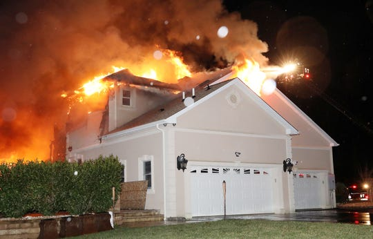 Fire broke out in a home at 4 Fitzpatrick Run in Millstone Township about 9:30 p.m. on Jan. 4, 2020