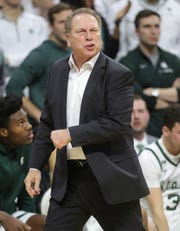 Michigan State coach Tom Izzo on the bench during the second half of MSU's 87-69 win over U-M on Sunday, Jan. 5, 2020, in East Lansing.