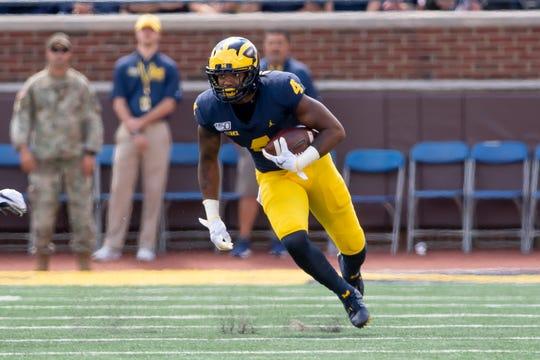 Michigan wide receiver Nico Collins announced Sunday he will return for his senior season.