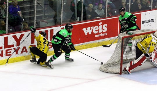 The Elmira Enforcers take on the Battle Creek Rumble Bees on Jan. 4, 2020 at Elmira's First Arena.
