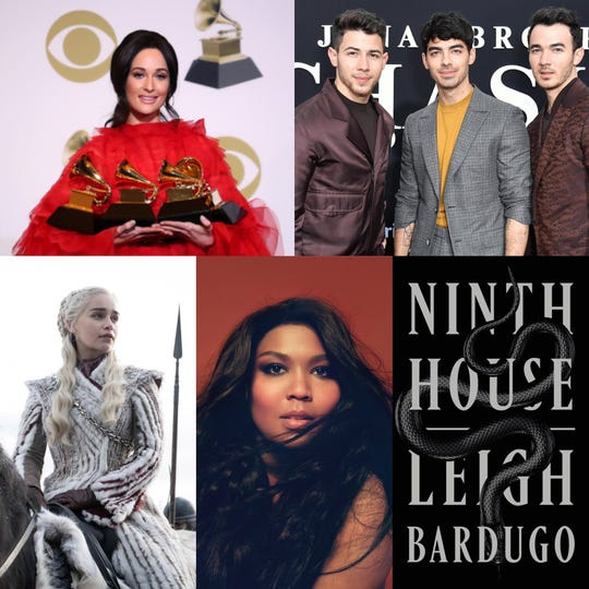 "Kacey Musgraves at the Grammys, the Jonas Brothers at the debut of their documentary ""Chasing Happiness,"" Daenerys Targaryen in ""Game of Thrones,"" Lizzo in her photoshoot with Rolling Stone and Leigh Bardugo's novel, ""The Ninth House."""