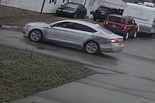 Indianapolis Metropolitan Police Department detectives are asking for help identifying this vehicle, which police described as a white or silver 2015-2018 Chevy Malibu or Impala. Police said the vehicle appeared to have recent body work markings on the driver's side rear quarter panel. Police said the vehicle may be connected to a fatal shooting that occured on Jan. 4, 2020.