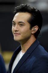 Jan 5, 2020; New Orleans, Louisiana, USA; 2019 American Idol winner Laine Hardy looks on after singing the national anthem before a NFC Wild Card playoff football game between the New Orleans Saints and the Minnesota Vikings at the Mercedes-Benz Superdome. Mandatory Credit: John David Mercer-USA TODAY Sports
