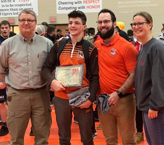 Mansfield Senior's Josh Lyons was the 132-pound JC Gorman champ, the Tygers' first champion since Jesse Palser.