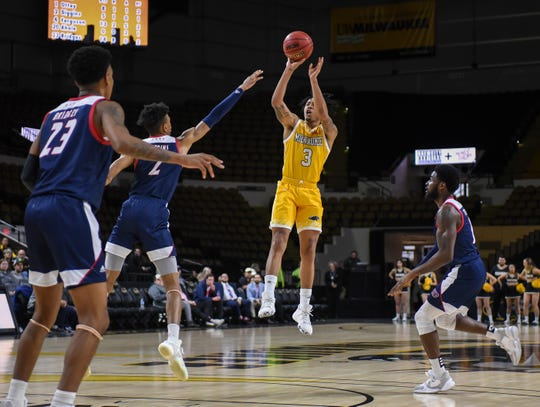 UW-Milwaukee guard Te'Jon Lucas (shown in an earlier game) led the Panthers with 18 points in a loss to Wright State Friday.