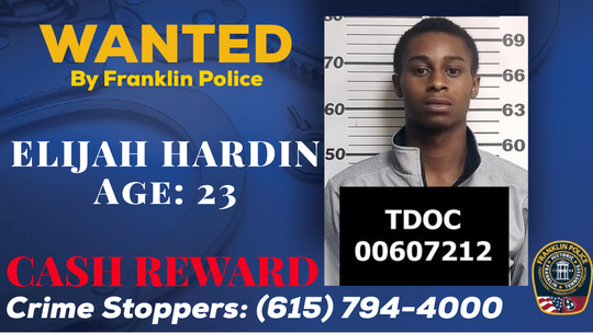 Franklin Police are searching for Elijah Hardin