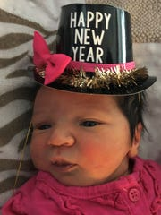Gillyann Grace was the first baby born at Aurora Medical Center on New Years.
