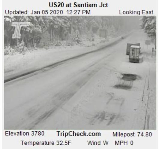 Snow hit Oregon's mountain passes over the weekend, and that should continue.