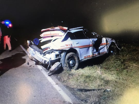 An Augusta County Sheriff's deputy was involved in a single-vehicle crash while en route to a call on Sunday, Jan. 5, 2020.