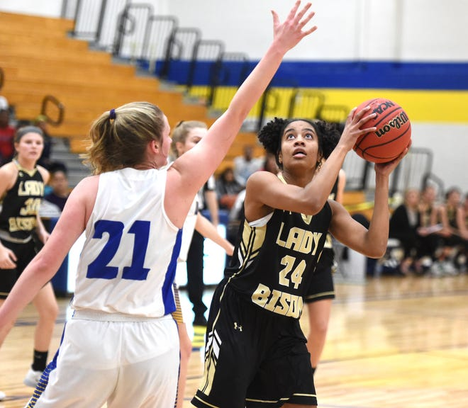 Buffalo Gap's Amaya Lucas has 29 points in a win over Western Albemarle at the Play for Preemies Showcase Saturday, Jan. 4.