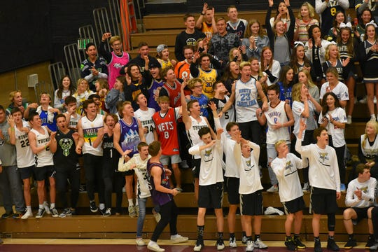 The Desert Hills' student section at Pine View.