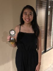"""Victoria Yang won the National Championship in Mu Chalk Talk with a lecture on """"Math and Tourism""""in July."""
