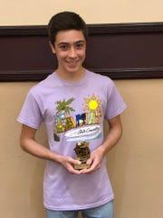 Filippo Aldrovandi-Reina took home a national champion trophy in Theta Triangles.