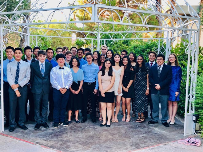 Chiles Mu Alpha Theta at competition in Las Vegas.