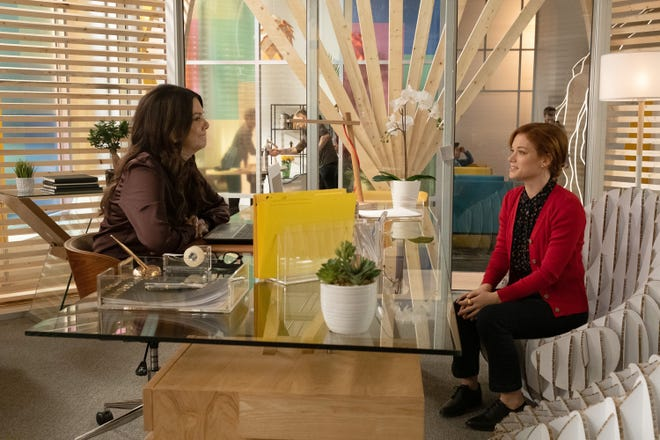 """Lauren Graham (left) plays Zoey's (Jane Levy) boss at a tech startup in NBC's """"Zoey's Extraordinary Playlist."""""""