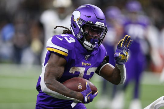 Vikings running back Dalvin Cook rushes in the second quarter.