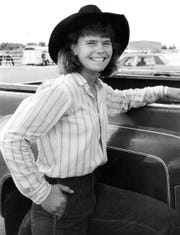 Lari Dee Guy, then 15 in August 1986 at American Junior Rodeo Association finals in Snyder.