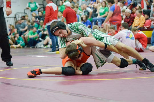 Huntington sophomore Dayland Thomas set a new school record with 18 consecutive wins at the Meigs Wrestling Invitational on Jan. 4, 2020.  The previous record of 17 consecutive wins was set by Jarod Coey in 2016. Dayland is currently 18-0 on the season with all 18 wins coming by pin.