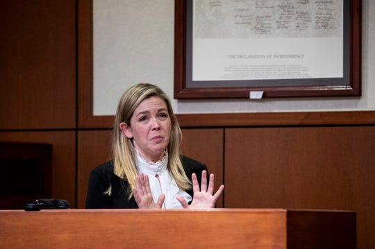 Kenton County Family Court Judge Dawn Gentry testifies at her hearing at the Jefferson County Judicial Center in Louisville on Friday, January 3, 2020.