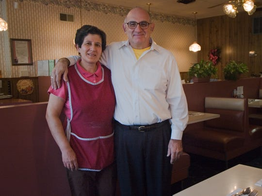 Stephanie and Chris Stone celebrate the 45th anniversary of Stone's Restaurant in Cheviot in  November 2006.