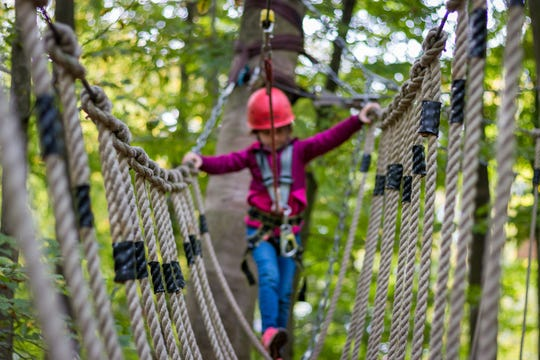 A ropes course coming to the Cincinnati Zoo in June will include challenges similar to this one. Precise details of the ropes course are not yet complete.