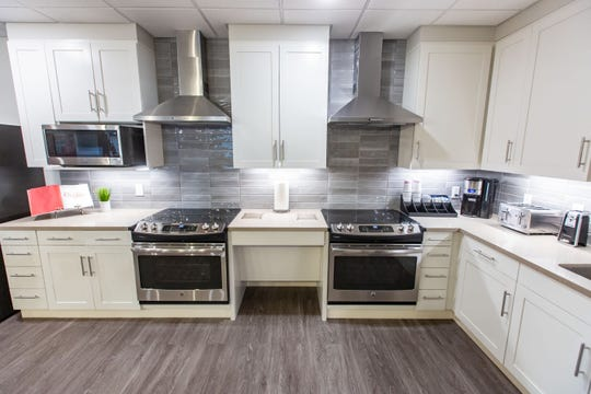 The kitchen in the new Ronald McDonald House at MercyOne Children's Hospital Monday, Jan. 6, 2020.