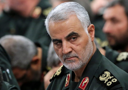 Revolutionary Guard Gen. Qassem Soleimani, pictured on Sept. 18, 2016.