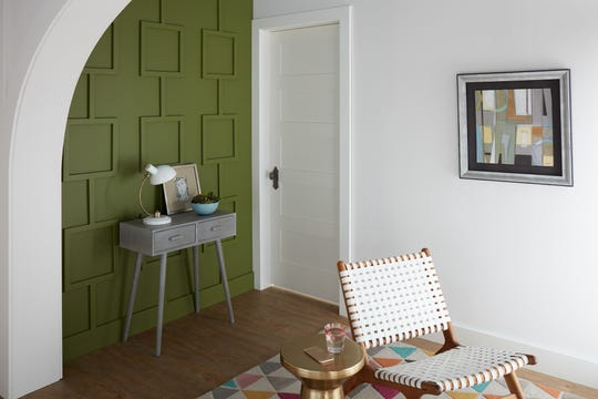 Secret Meadow, a green reminiscent of what was so big in the 70s, is one of the 15 colors in Behr's 2020 Color Trends Palette.