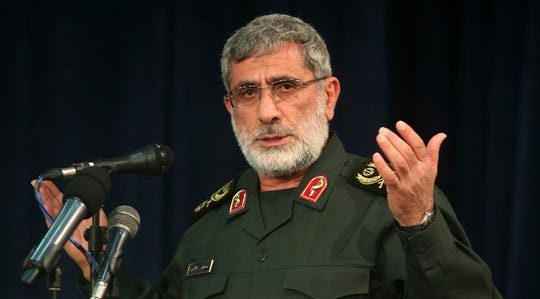 Gen. Esmail Ghaani speaks in a meeting in Tehran, Iran, in this Nov. 2016 file photo.