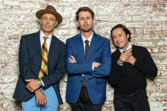 Jon Gries, left, Jon Heder and Efren Ramirez