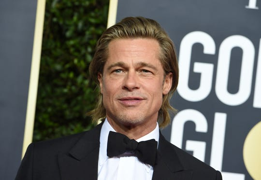 Brad Pitt arrives at the 77th annual Golden Globe Awards at the Beverly Hilton Hotel on Sunday, Jan. 5, 2020.