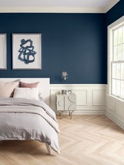 Sherwin-Williams' named Naval, a deep blue hue, its 2020 Color of the Year.