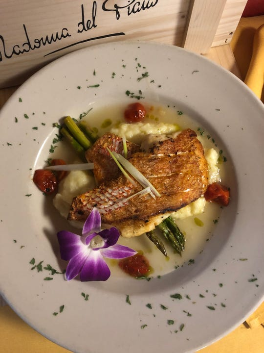 Bianca's chef Vander Oliveira is introducing more local fish to the menu, such as this crispy snapper.