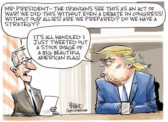 U.S. airstrike kills Iranian general.