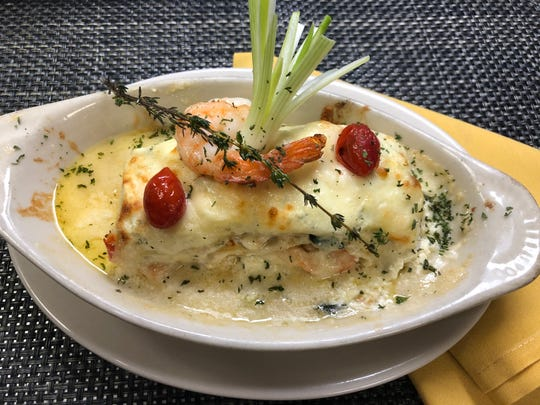 Seafood lasagna has become one of the most popular new menu items and often sells out at Bianca's Ristorante in North Fort Myers.