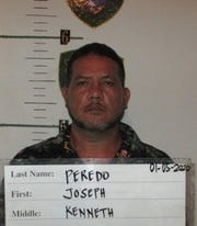 Joseph Kenneth Peredo is charged with possession of a schedule two controlled substance as a third-degree felony, driving while impaired as a misdemeanor and driving with no license as a violation.