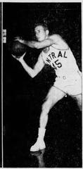 "This photo of Dick Nyers was published Nov. 24, 1953, with the headline: ""Indiana Central to launch hardwood season tonight. "" Indiana Central is now UIndy."