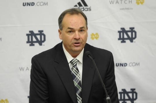 FILE -- Mike Denbrock was previously Notre Dame's offensive coordinator