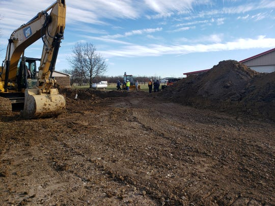 Upon arrival, Bargersville Fire crews found workers on the scene of approximately a 15' deep trench reporting one male trapped at the base of the trench.