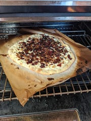 This bacon tart must be cooked at 500 degrees.