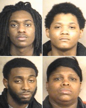From left clockwise: Emonyae Sanders, Jaterrious Yates, Stacey Sanders and Antwon Johnson